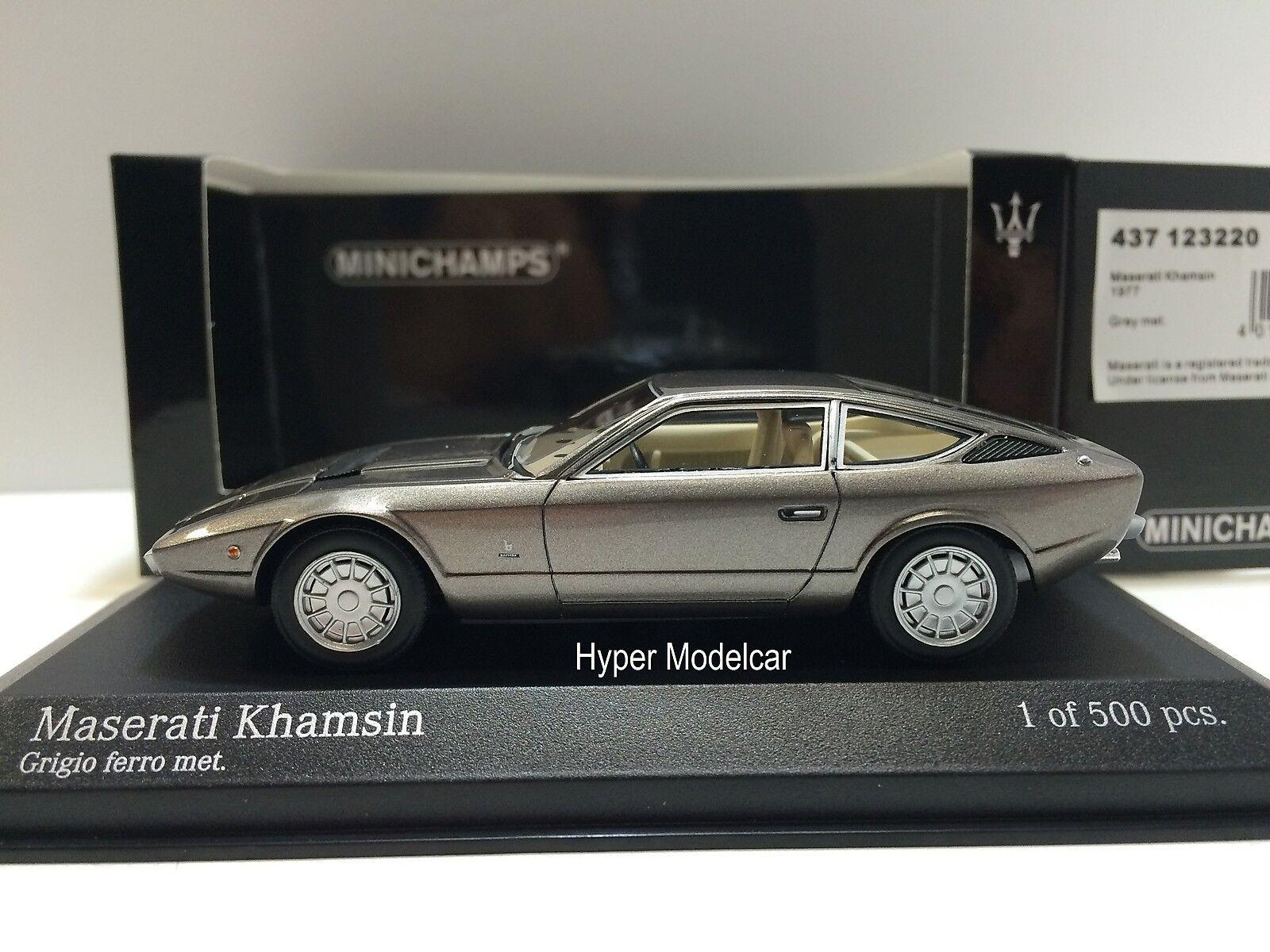 MINICHAMPS 1 43 Maserati Khamsin 1977 Gry Met. Art. 437123220