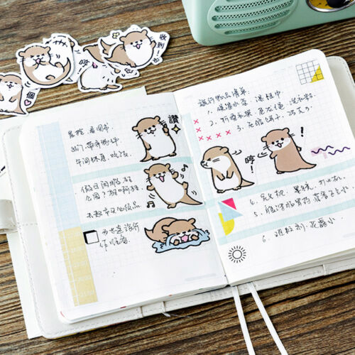 45pcs cute otter series paper sticker diy diary decor for album scrapbooking KQ