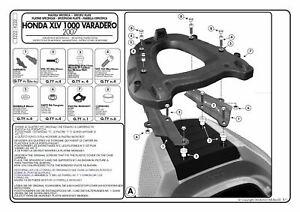 E222 Givi Attacco Bauletto Per Honda Xl 1000v Varadero / Abs 2007 2008 2009 Clair Et Distinctif