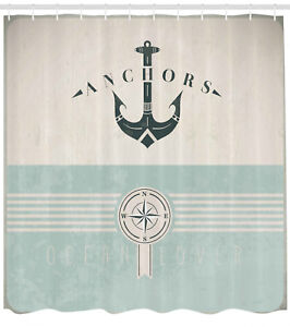 Details About Nautical Anchor Sailor Sea Directions Comp Shower Curtain Extra Long 84 Inch