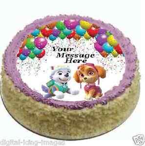 Skye Personalized Cake Topper