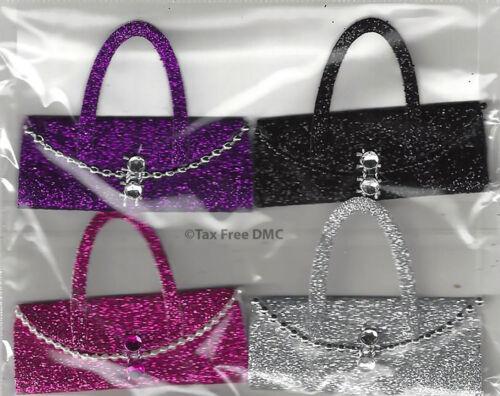 VAT Free Trimits Craft Card Making Stickers Glitter Handbags with Diamante C2176