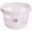 Wham Casa Round Laundry Basket Ice White UK