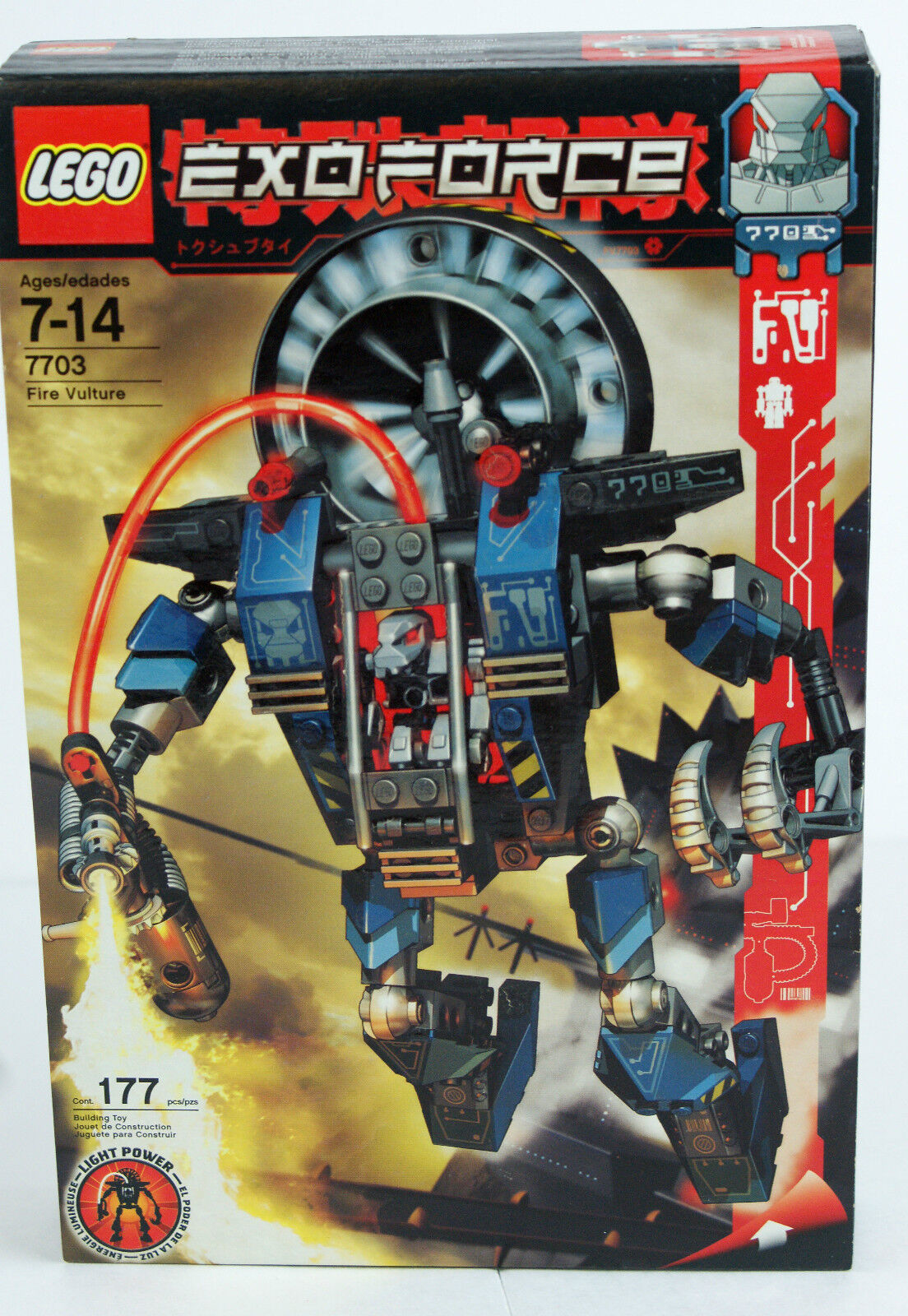Lego 7703 Exo-Force Fire Vulture - Vintage 2006 Exo Force NEW