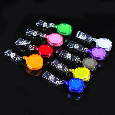Lot 100 ID Badge Holder Reel Retractable Key Clip Wholesale Price