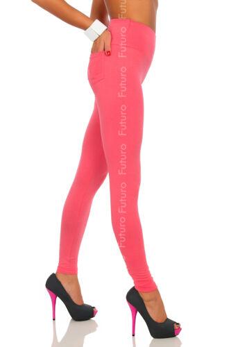 Lange Leggings mit Taschen Dehnbar Hohe Taille Hosen Größen 8-20 Lpk