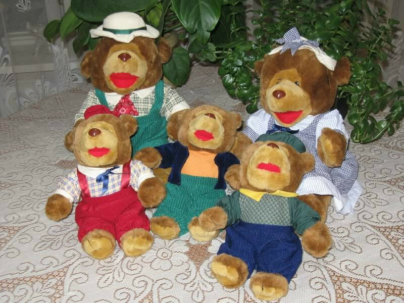 Pickwick Pickwick Pickwick Tea RARE Dutch BEAR FAMILY 5 Plush Toy Lot ded57c