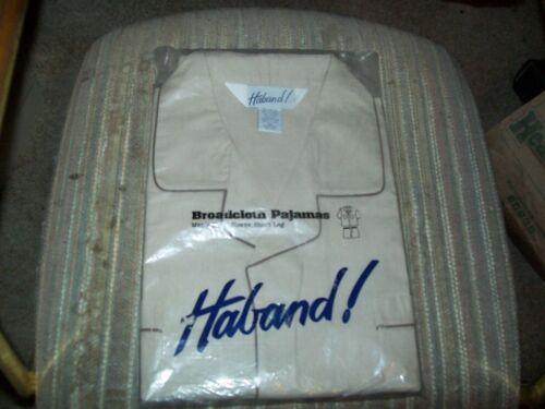 Haband Mens Broad Cloth SS Legs & Sleeves Pajamas-Sz 2X save more