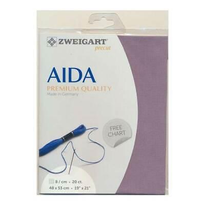 AIDA ZWEIGART precute 20 ct EXTRA FEIN-AIDA 3326 couleur 705 Perlgrau zählstoff