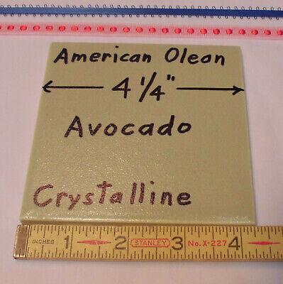 "Vintage Ceramic Tiles Crystalline *Almond* by American Olean 4 1//4/"" NOS 5 pcs"