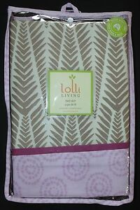 NEW Lolli Living Surina Crib Bed Skirt Palms Print Surina Mix & Match Collection