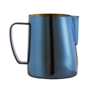 Espresso-Milk-Frothing-Pitcher-Latte-Art-Jug-350ml-Stainless-Steel-Dark-Blue