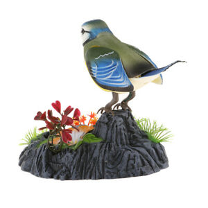 Details about Electric Sound Control Bird Voice Activated Realistic Sparrow  w/ Pen Holder