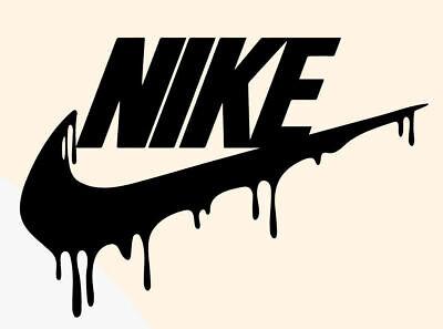 Nike Swoosh Drip Wall Decal Art Sports Basketball Decor ...