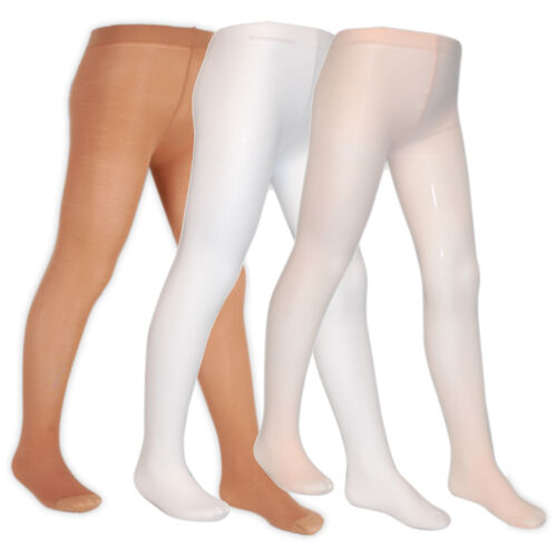 Girls Ballet Tights Dancing Ages 3-14 White Pink Cream Formal Wear