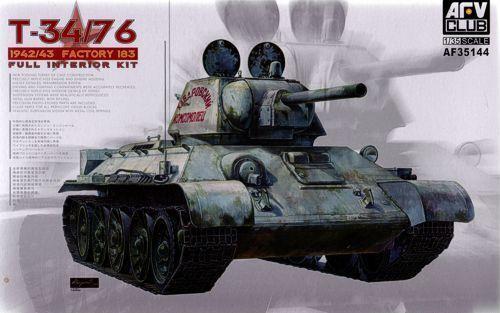 AFV Club 1 35 T-34 76 1942 43 Factory 183 Full Interior Kit AF35144