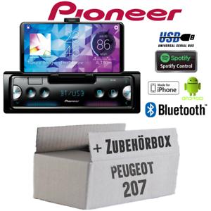 pioneer radio f r peugeot 207 bluetooth spotify android iphone einbauset pkw kfz ebay. Black Bedroom Furniture Sets. Home Design Ideas