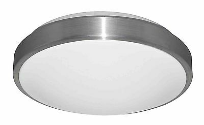 CLA 18w Round LED Oyster Ceiling Light Cool White Chrome Silver CLAL11