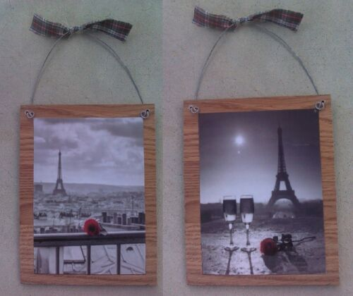 Paris Pictures Eiffel Tower Red Rose France Bed Bath Wall Hangings Plaques