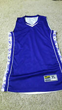 Boys EASTBAY Athletic V-Neck Tank Top Size XL Purple White Reversible VERY NICE!
