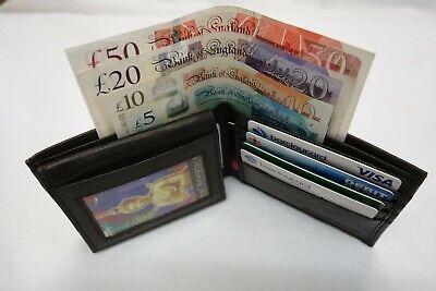 100% Wahr Soft Nappa Leather Credit Card Wallet Very Slim Ideal For Back Pocket Brown Zu Den Ersten äHnlichen Produkten ZäHlen