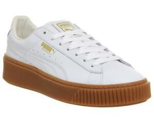 Puma Basket Gold Foil White Leather