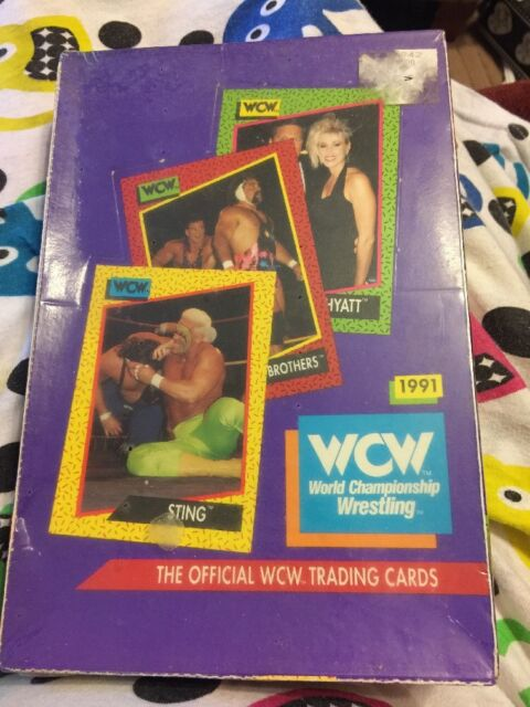 WCW World Championship Wrestling Official Trading Cards 1991 Sealed Box