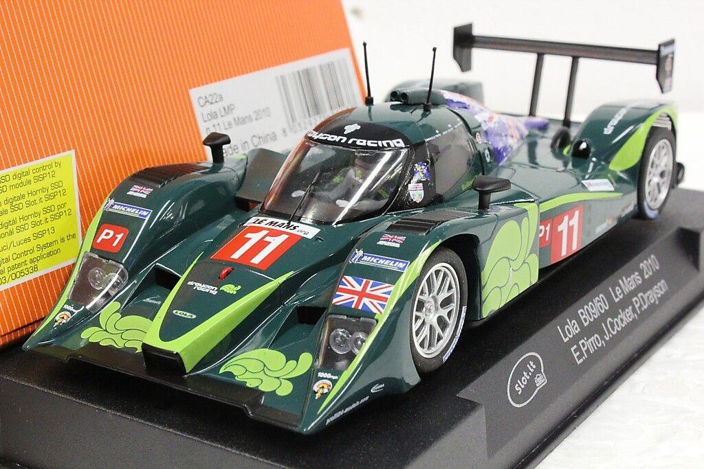 Slot lo SICA22A Lola B09 60 Le Mans 2010 ,  32 Coche Ranura