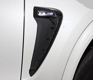 for BMW 2014 X5 F15 X5M F85 Light Trim Carbon Fiber Fender Side Gril