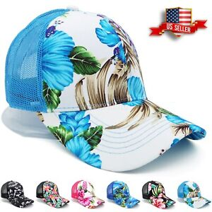 Trucker Hat Mesh for Men and Women Adjustable Caps Curve Bill Hats Baseball Cap