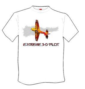 Details about Rc Airplane Apparel- T-shirt Extreme 3-d Pilot
