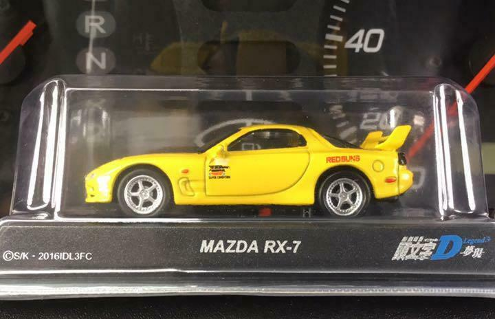 NEW 1/64 Kyosho Initial D RX-7 FD3S Type R Keisuke Takahashi Red Sands