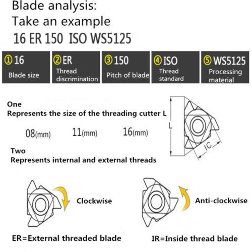 16IRM 14W WS5125 10 Pcs 55°W British Wyeth Internal Thread Full Tooth Type