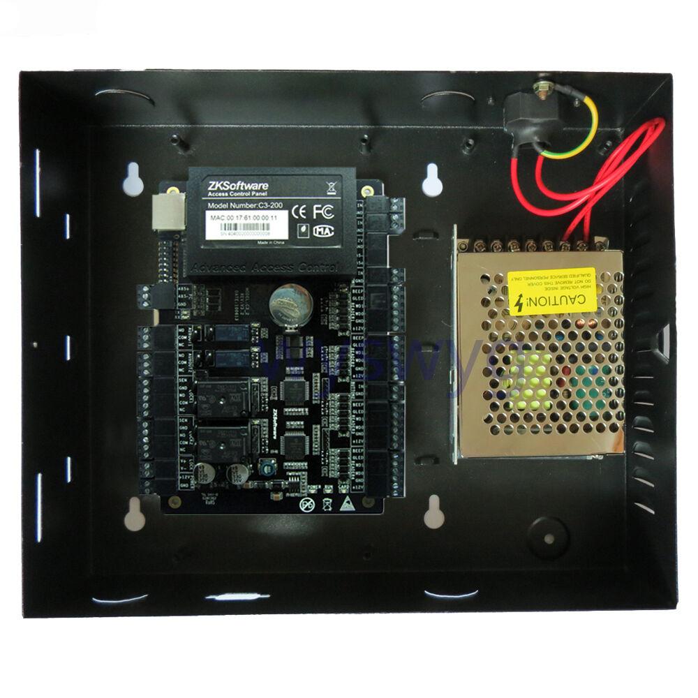 Zk C3-200 2 Puertas Profesional Id Ic Puerta tarjeta controladora de acceso con software