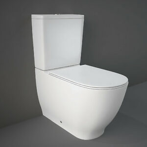 Superb Details About Rak Moon Back To Wall Closed Couple Toilet Including Soft Close Seat Creativecarmelina Interior Chair Design Creativecarmelinacom