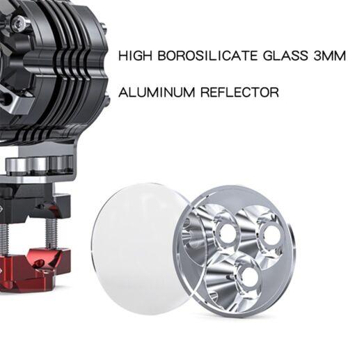 SPIRIT BEAST Motorcycle Lamp Spotlight LED Flasher Light Fog ATV 30W 6000K