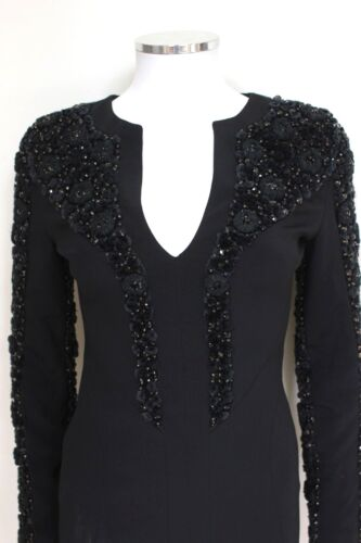 Velvet 40 Antonio 8 Sleeve Berardi Uk Black Dress New Embellished qBntx44W