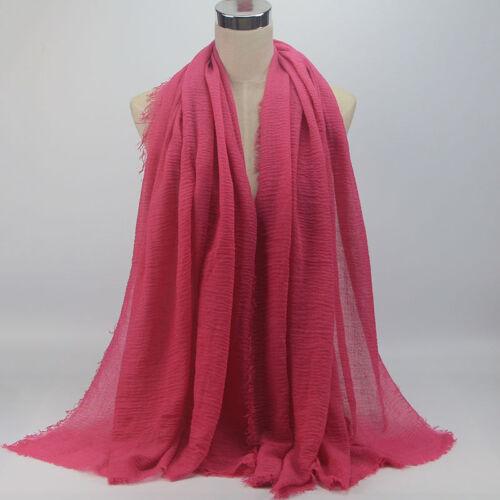 NEW STYLE CRINKLE Plain Hijab Maxi scarf Headscarf CRIMP Shawl Ruffle Pashmina