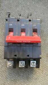 CRABTREE 100 AMP TRIPLE POLE MAIN SWITCH DISCONNECTOR C50 C-50
