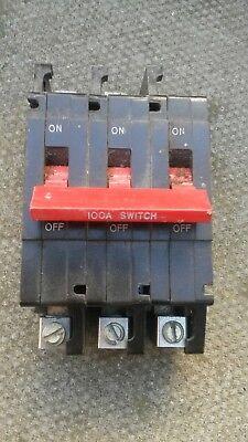 Crabtree C50 100amp Main Switch Breaker