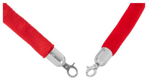 Personenleitsystem Kordel Seil rot silber Karabiner 1,5m Zubehör Ersatz Samt red