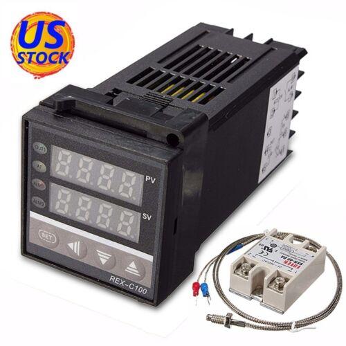 1M K Type 40A SSR AC 110-240V PID Temperature Controller kits 0-999°C