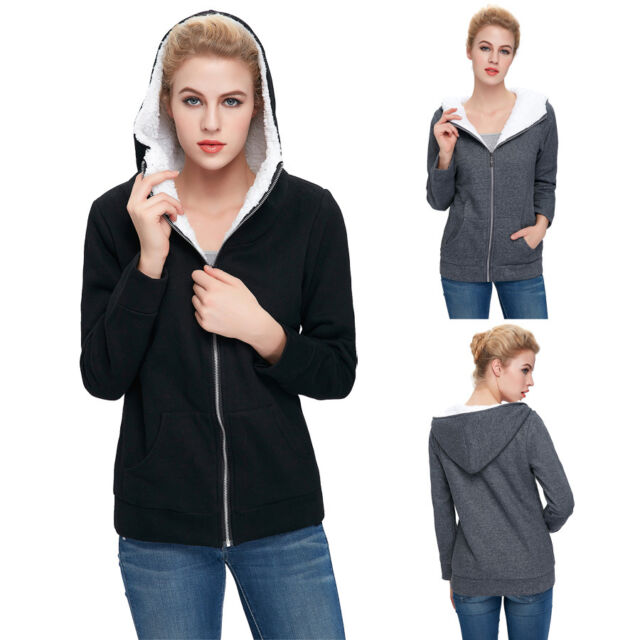 HOT Ladies Women Fleece Long Winter Coat Hood Parka Overcoat Long Jacket Outwear