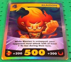 yo kai watch tcg trading card game rare foil blazion 76 holofoil