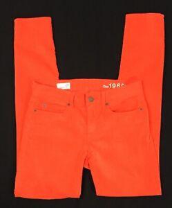 jó ki x cipők olcsón aranyos Gap1969 Size 25r Legging Jean Scarlett Orange pinwale Corduroy ...