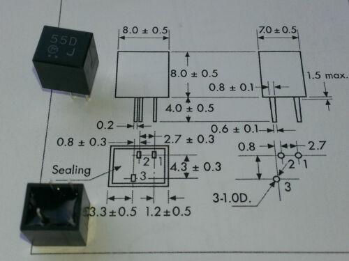 genuino Murata Filtros 455kHz total BW = 20kHz CFU455D2 55D de la marca 4 piezas