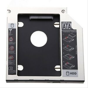 SATA 2nd HDD SSD Caddy per Laptop 9.5mm ottica Hard Disk con ANTERIORE bazael