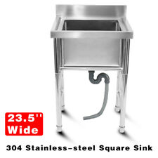304 Stainless Steel Utility Sink For Commercial Kitchen Square Sink 235