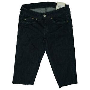 Pepe-Jeans-Damen-Sommer-stertch-3-4-Hose-Short-Bermuda-Capri-W27-Dunkelblau-NEU
