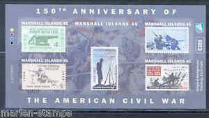 MARSHALL-ISLANDS-ERROR-CIVIL-WAR-SHEET-DEPICTING-US-STAMPS-IMPERFORTE-MINT-NH
